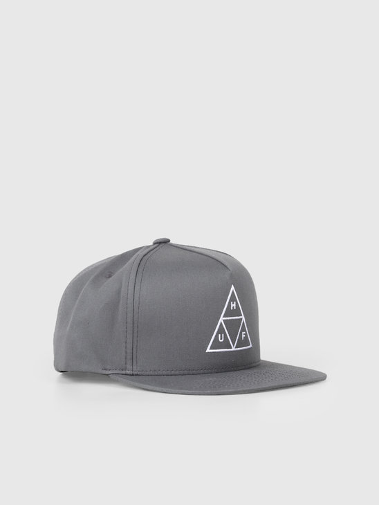 HUF Essentials TT Snapback Hat Charcoal HT00344-Charc
