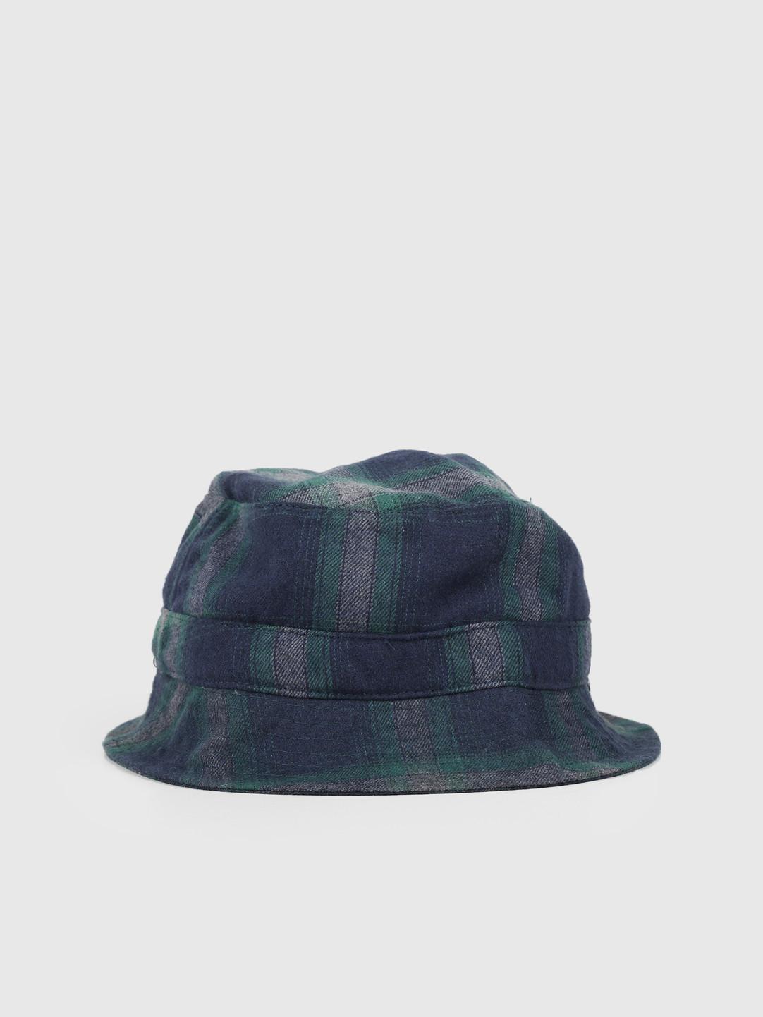 HUF HUF John Plaid Bucket Hat Dark Navy HT00393-DKNAV