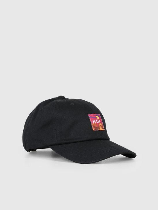 HUF Sedona Cv 6 Panel Hat Black HT00383-BLACK