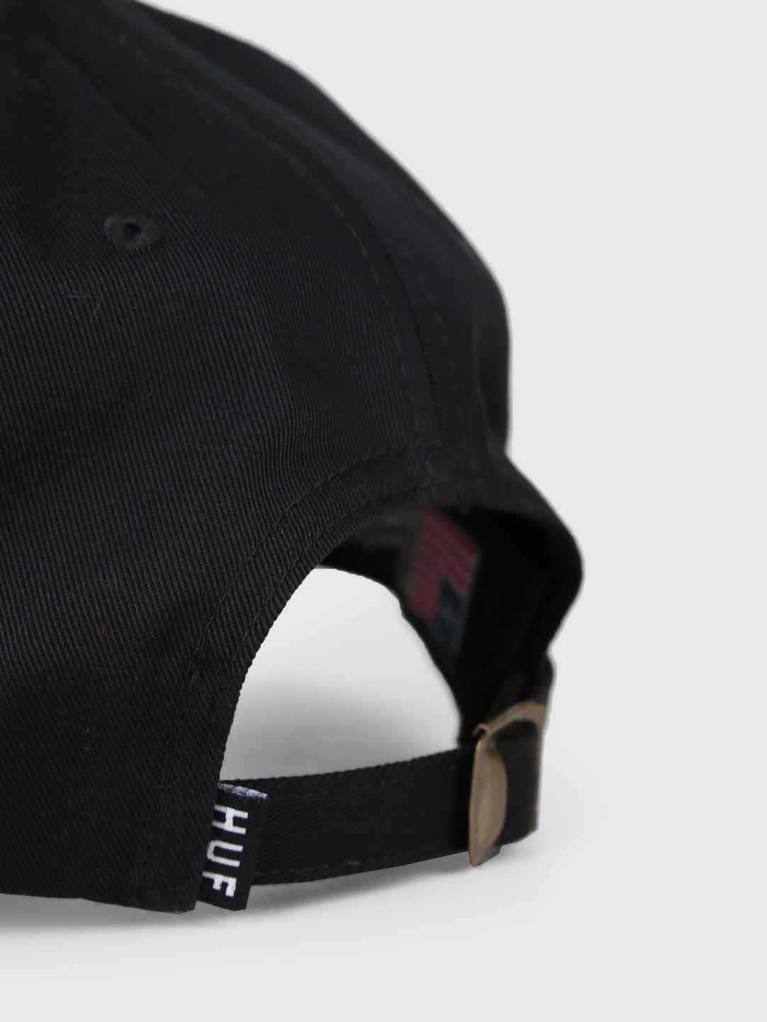 a5c3bf0ab HUF Sedona Cv 6 Panel Hat Black HT00383-BLACK
