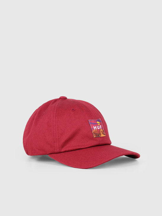 HUF Sedona Cv 6 Panel Hat Rose Wood Red HT00383-RWRED