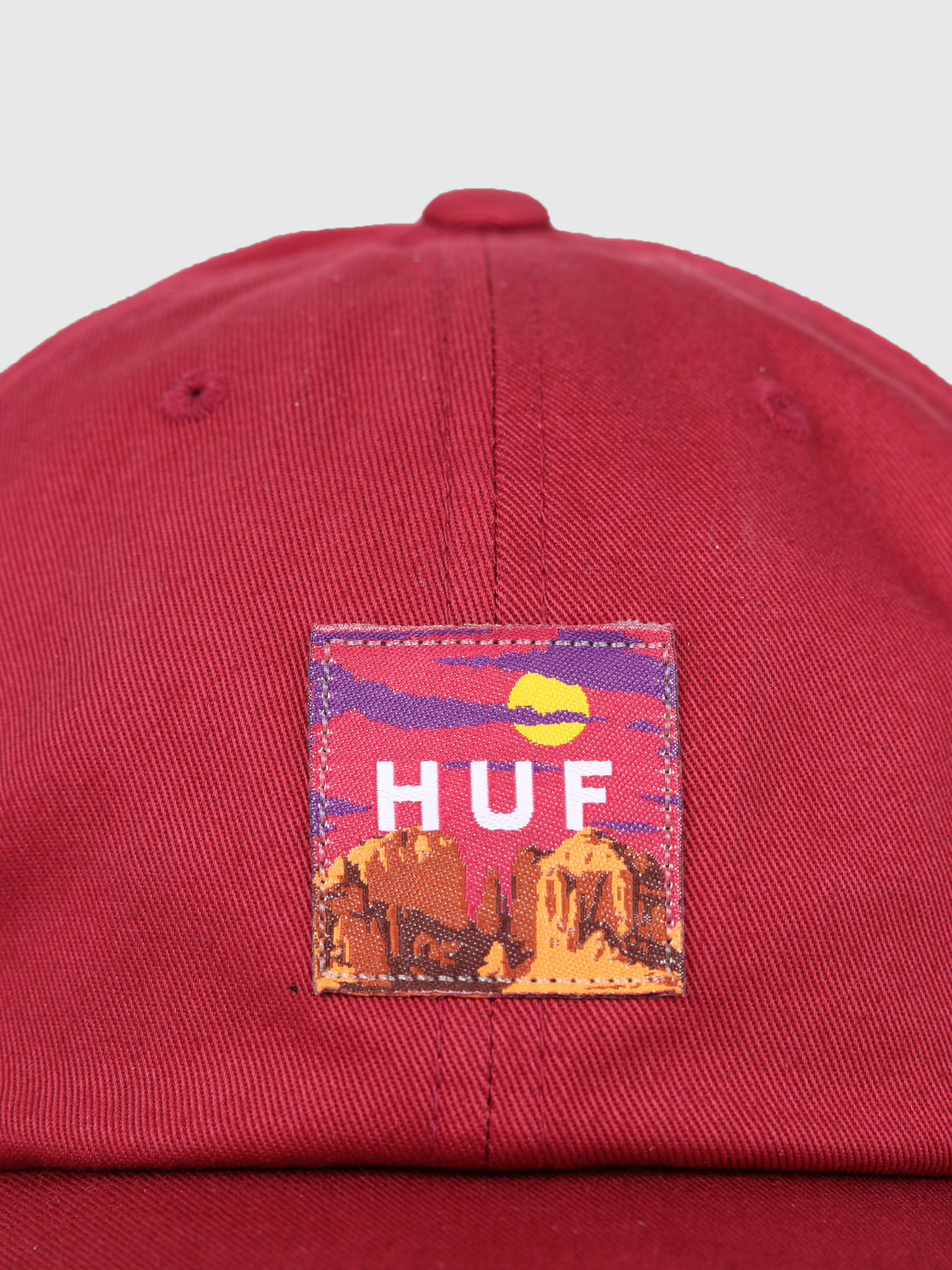 HUF HUF Sedona Cv 6 Panel Hat Rose Wood Red HT00383-RWRED