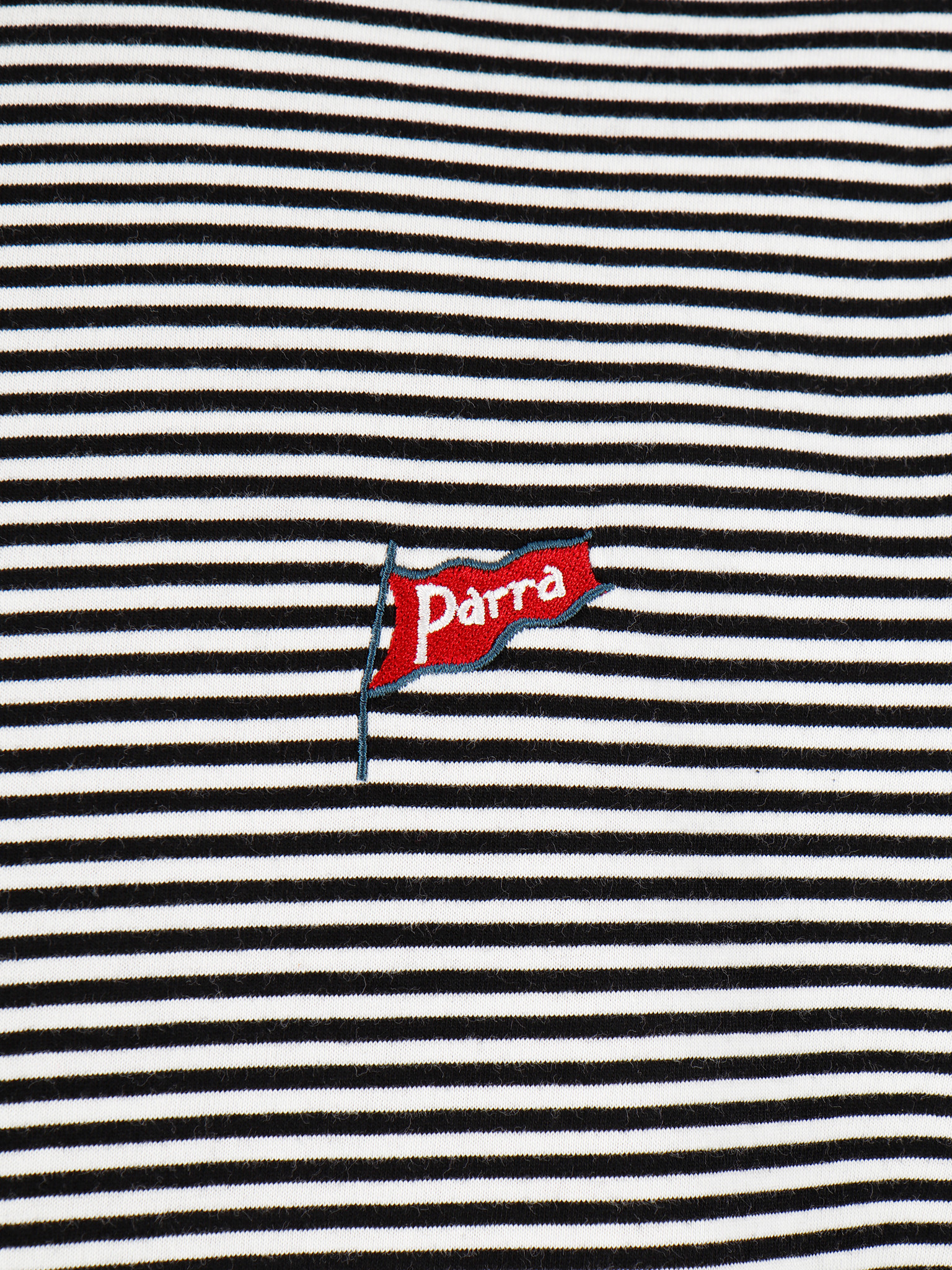 By Parra By Parra Flapping Flag Striped T-Shirt Black  White 42710