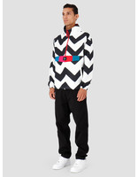 By Parra By Parra Vase Mountain Stripes Windbreaker Black  White 42790