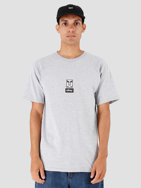 Obey Icon Face 30 Years Heather Grey 163082253-HEA