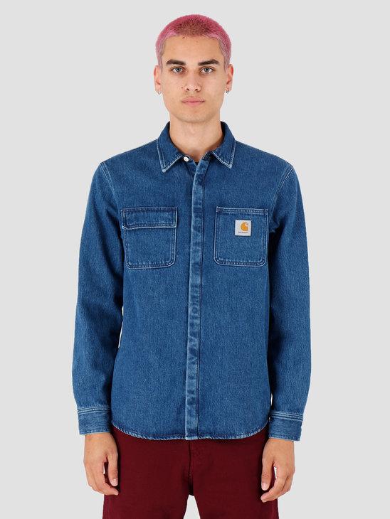 Carhartt WIP Salinac Shirt Jac Stone Washed Blue I023977