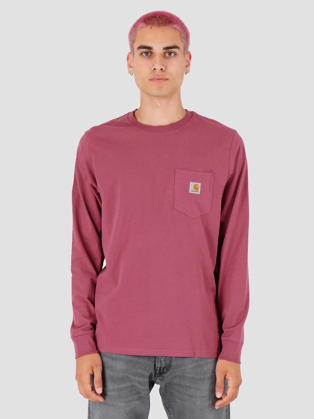 Carhartt WIP Carhartt WIP Longsleeve Pocket Shirt Dusty Fuchsia I022094