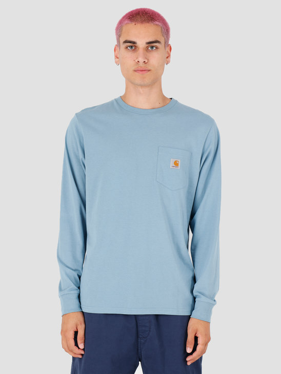 Carhartt WIP Longsleeve Pocket Shirt Cold Blue I022094
