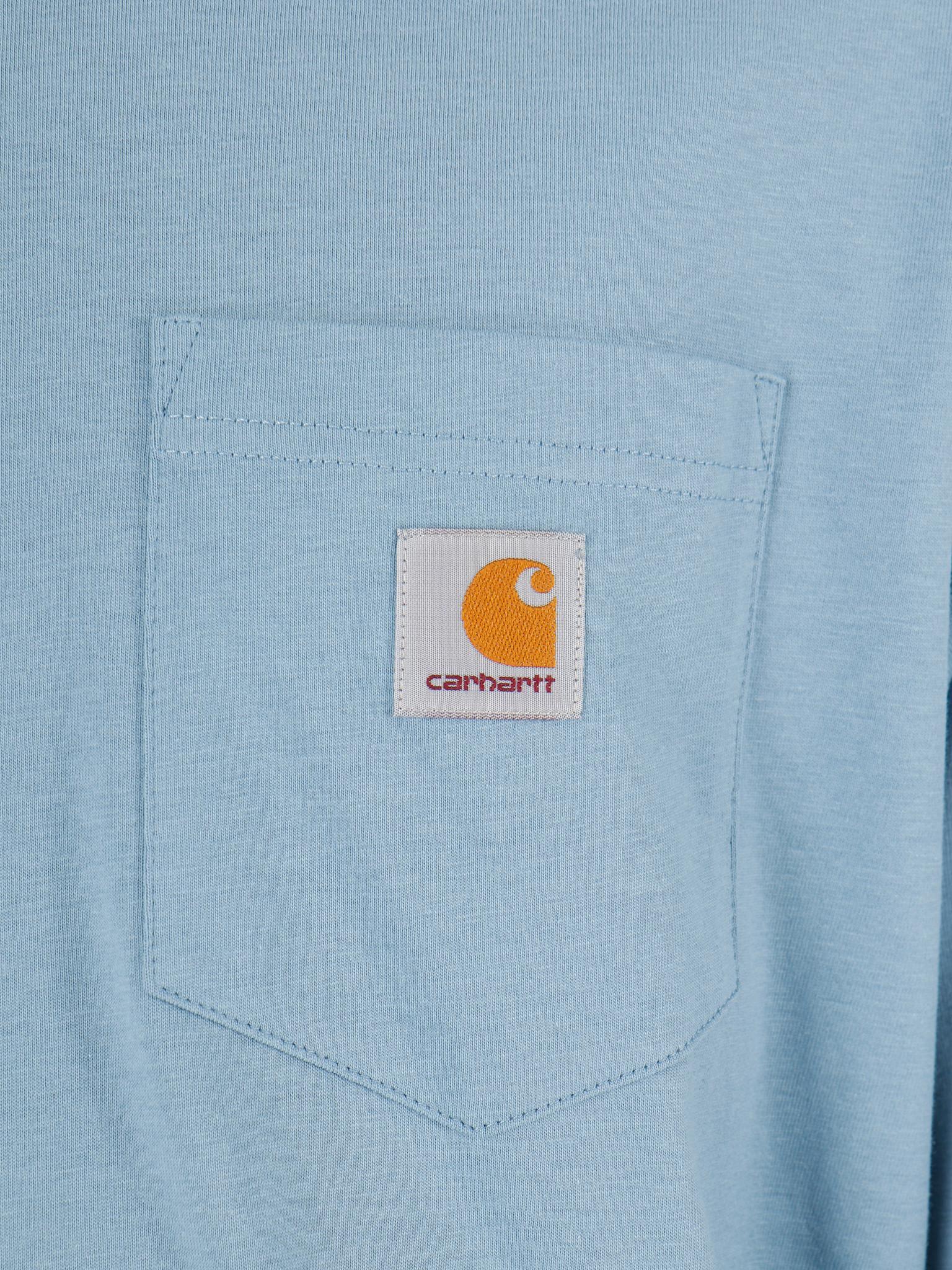Carhartt WIP Carhartt WIP Longsleeve Pocket Shirt Cold Blue I022094