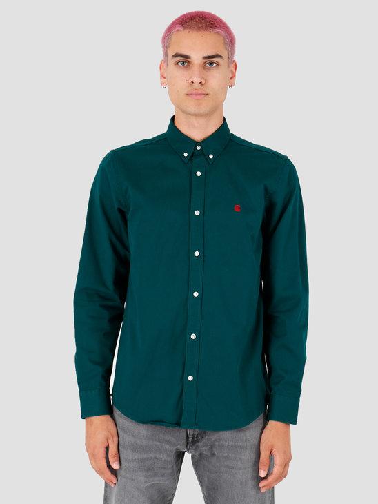 Carhartt WIP Longsleeve Madison Shirt Dark Fir Merlot I023339