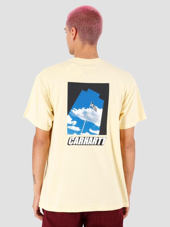 Carhartt WIP Post T Shirt Pale Yellow I027108