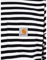 Carhartt WIP Carhartt WIP Longsleeve Haldon Pocket Shirt Haldon Stripe Black White I027067