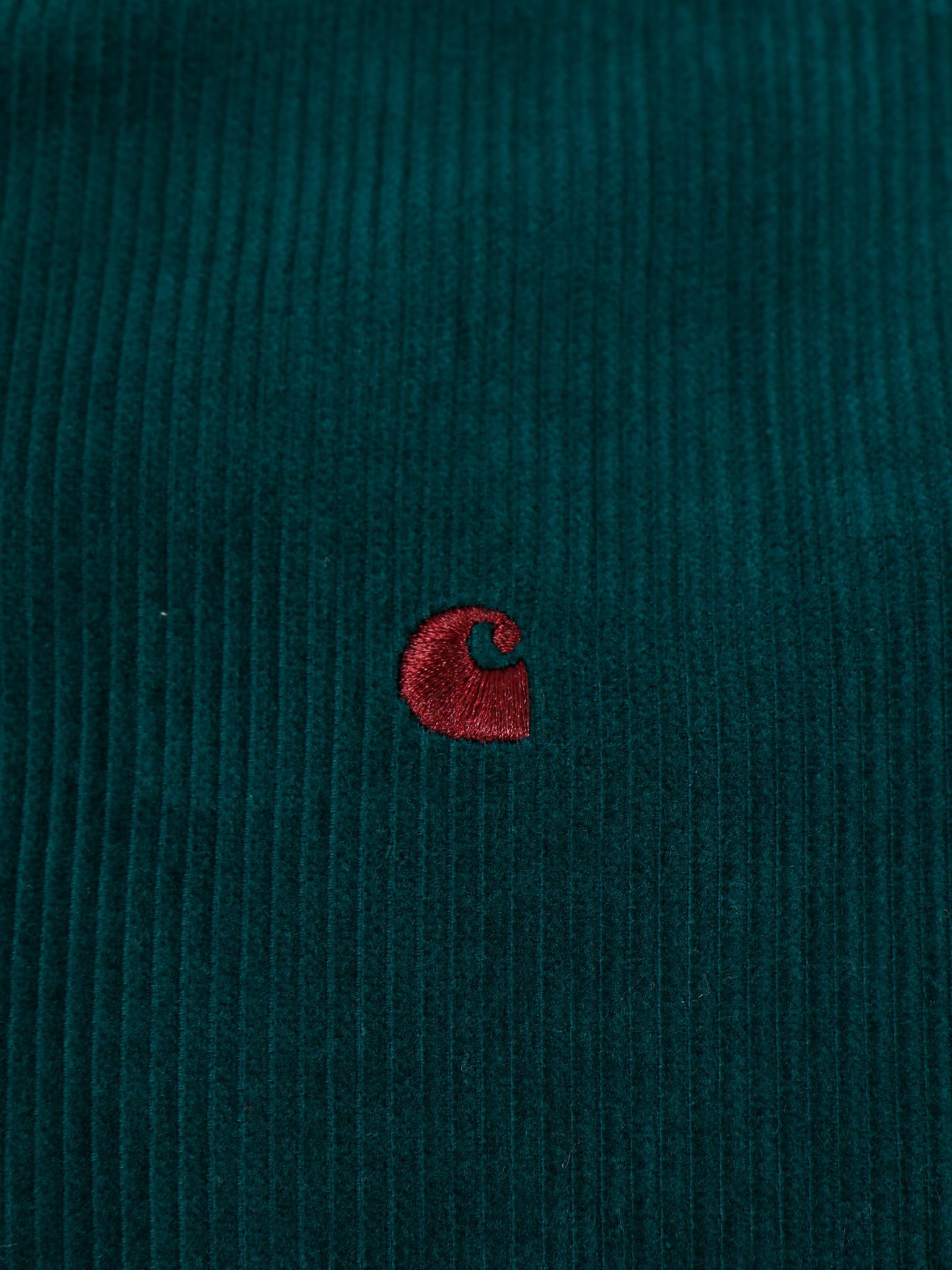 Carhartt WIP Carhartt WIP Longsleeve Madison Cord Shirt Dark Fir Merlot I025247