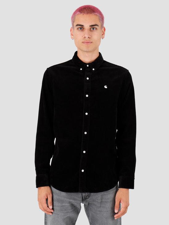 Carhartt WIP Longsleeve Madison Cord Shirt Black White I025247