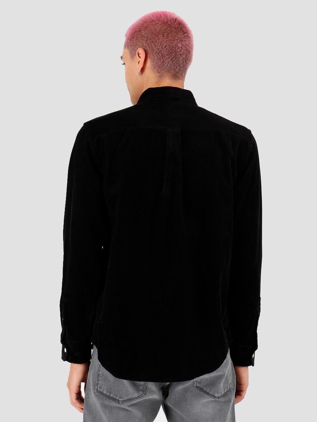 Carhartt WIP Carhartt WIP Longsleeve Madison Cord Shirt Black White I025247