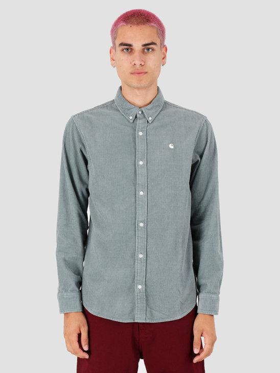 Carhartt WIP Longsleeve Madison Cord Shirt Cloudy Flour I025247
