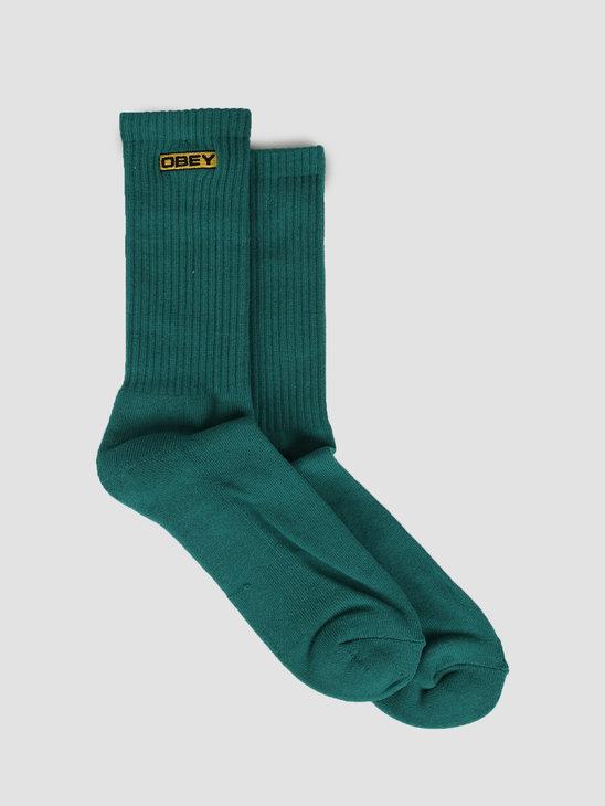 Obey Enigma Socks Blue Green 100260138-BGN
