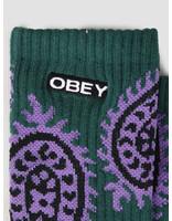 Obey Obey Eisley Socks Paisley Teal 100260135-TEA