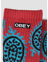 Obey Obey Eisley Socks Paisley Brick 100260135-BRK