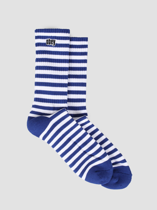 Obey Dale Socks II Ultramarine White 100260131-UMR