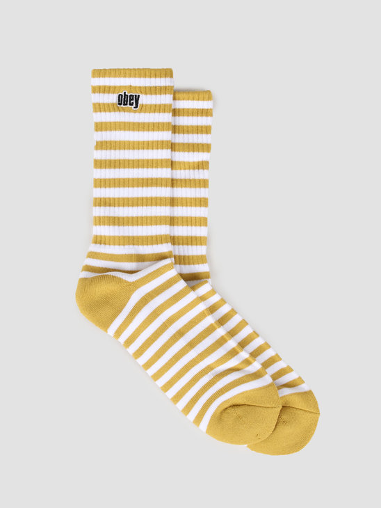 Obey Dale Socks II Golden Palm White 100260131-GPM