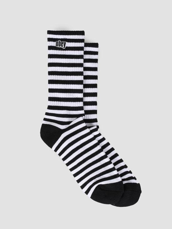 Obey Dale Socks II BKWT 100260131