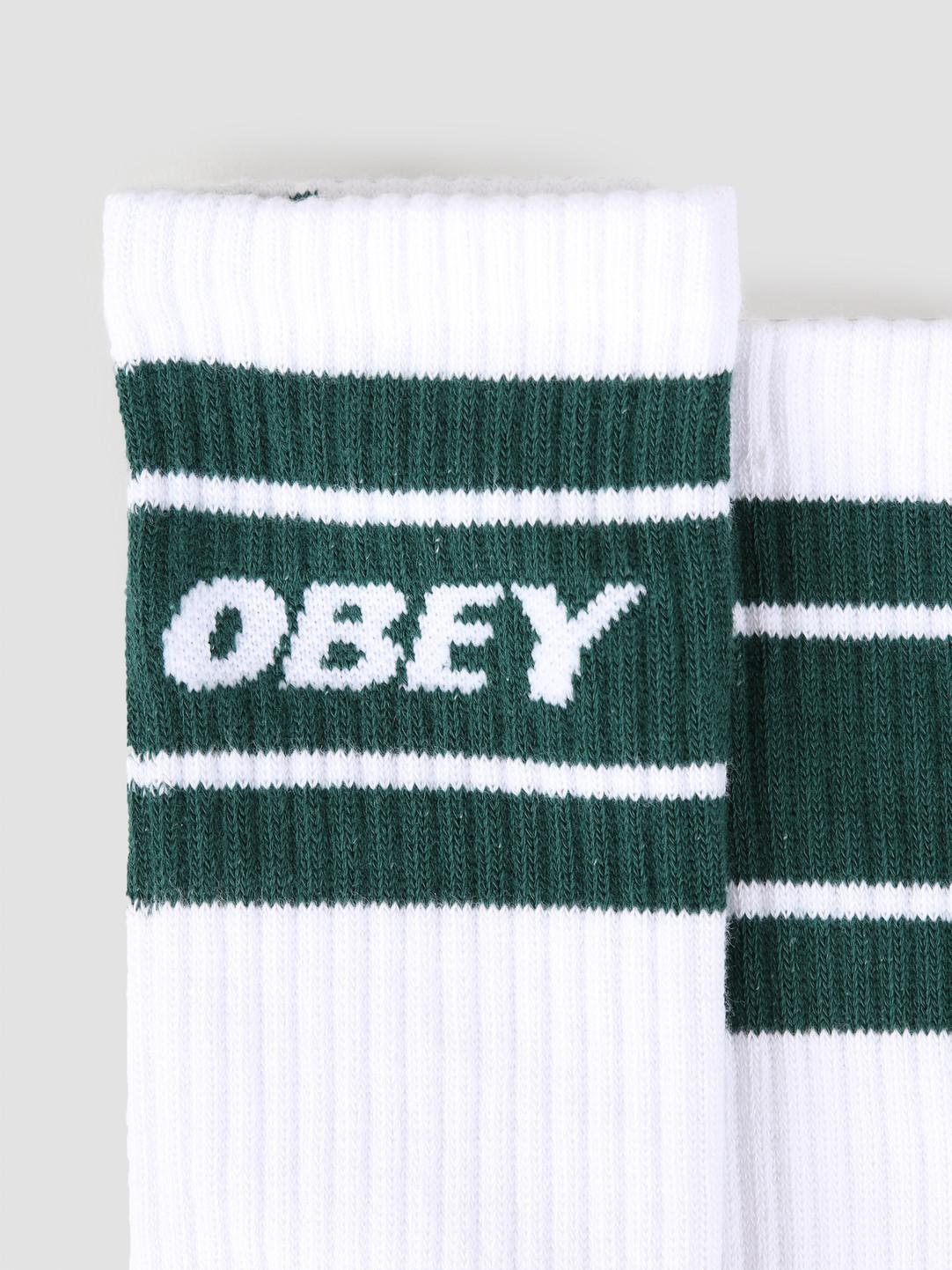 Obey Obey Cooper II Socks White Deep Teal 100260093-DPT