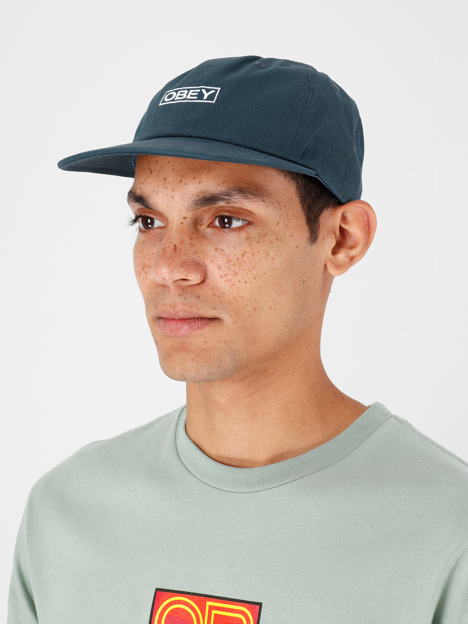 Obey Obey Character 6 Panel Snapback Pine 100580202-PNE
