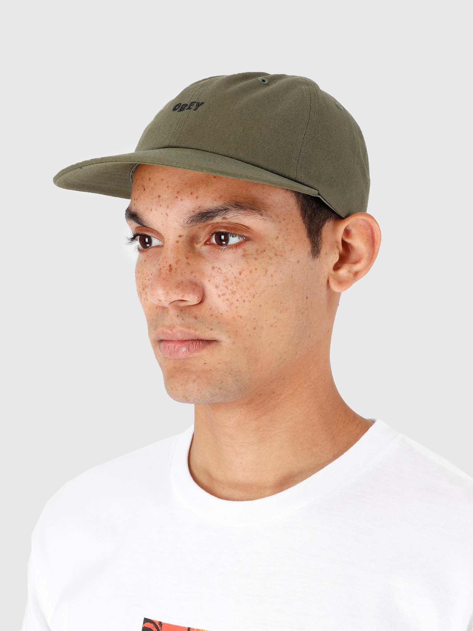 Obey Obey Jumbled 6 Panel Strapback Army 100580200-ARM