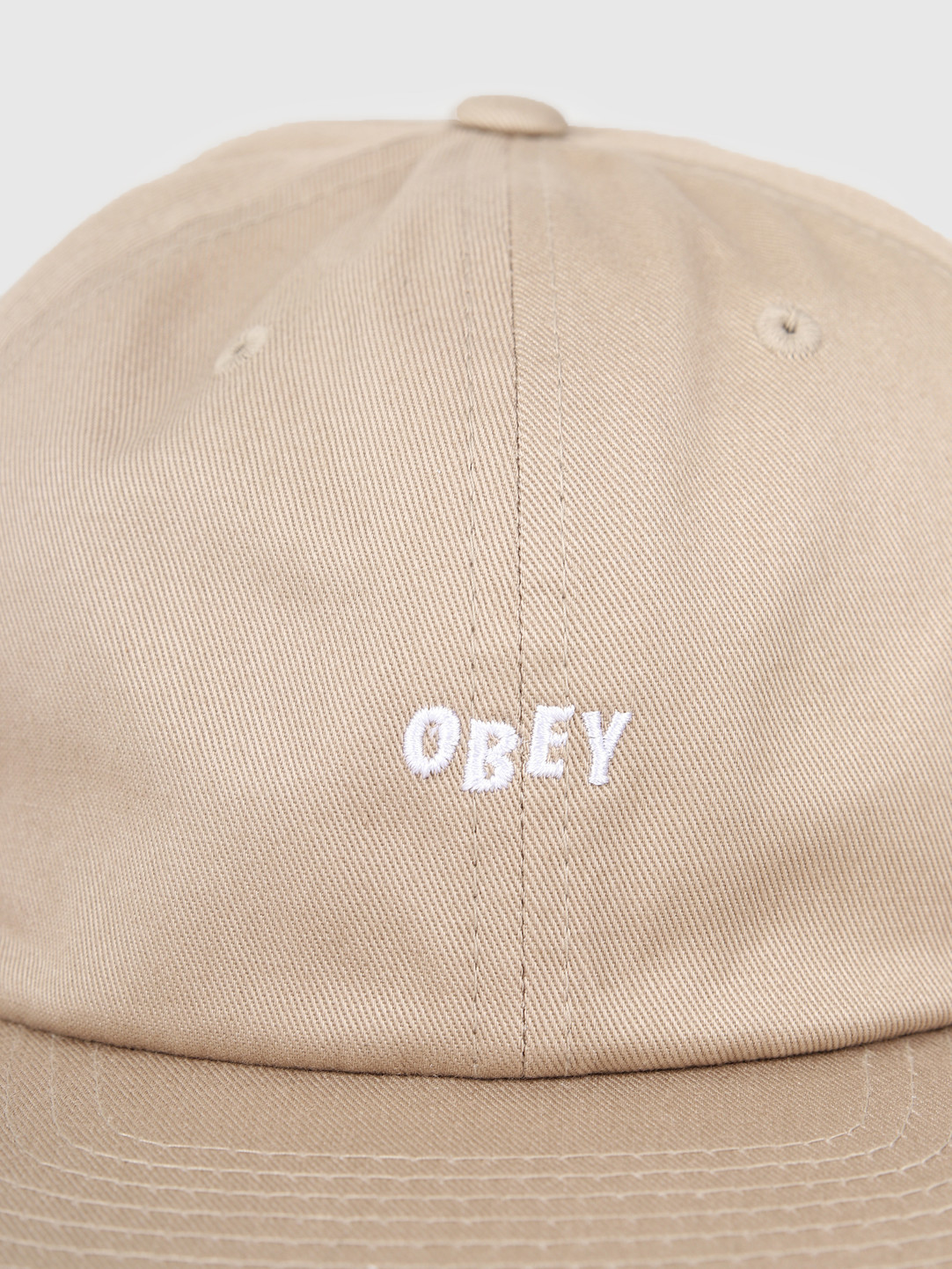 Obey Obey Jumbled 6 Panel Strapback Khaki 100580200-KHA