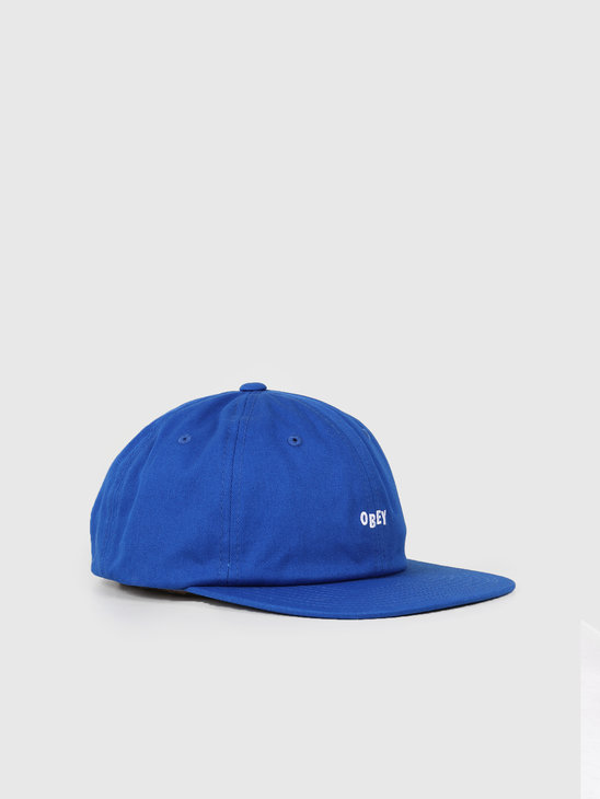 Obey Jumbled 6 Panel Strapback Royal 100580200-RYL