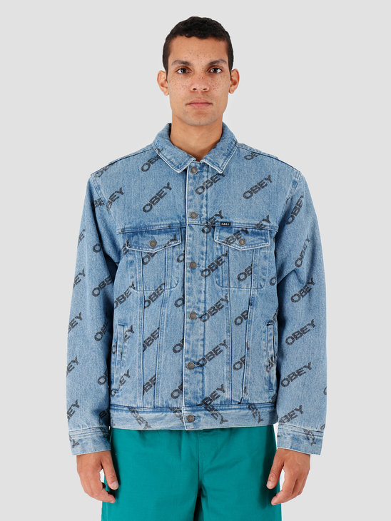 Obey Dynamite Jacket Slanted Light Indigo 121800391-LIN
