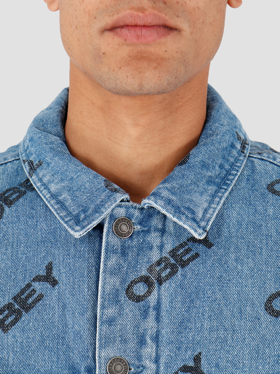 Obey Obey Dynamite Jacket Slanted Light Indigo 121800391-LIN