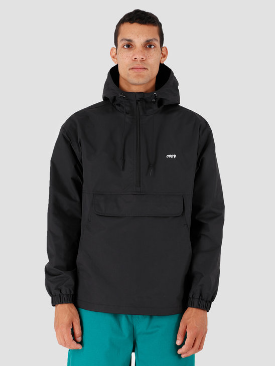 Obey Recess Anorak Black 121800375-BLK