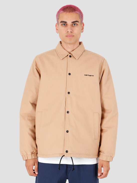 Carhartt WIP Canvas Coach Jacket Dusty H Brown Black I026723