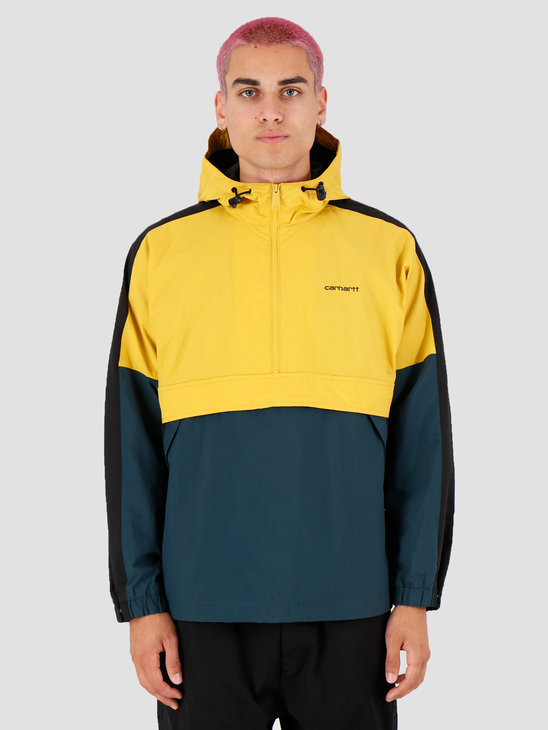Carhartt WIP Barnes Pullover Colza Duck Blue Black I027192