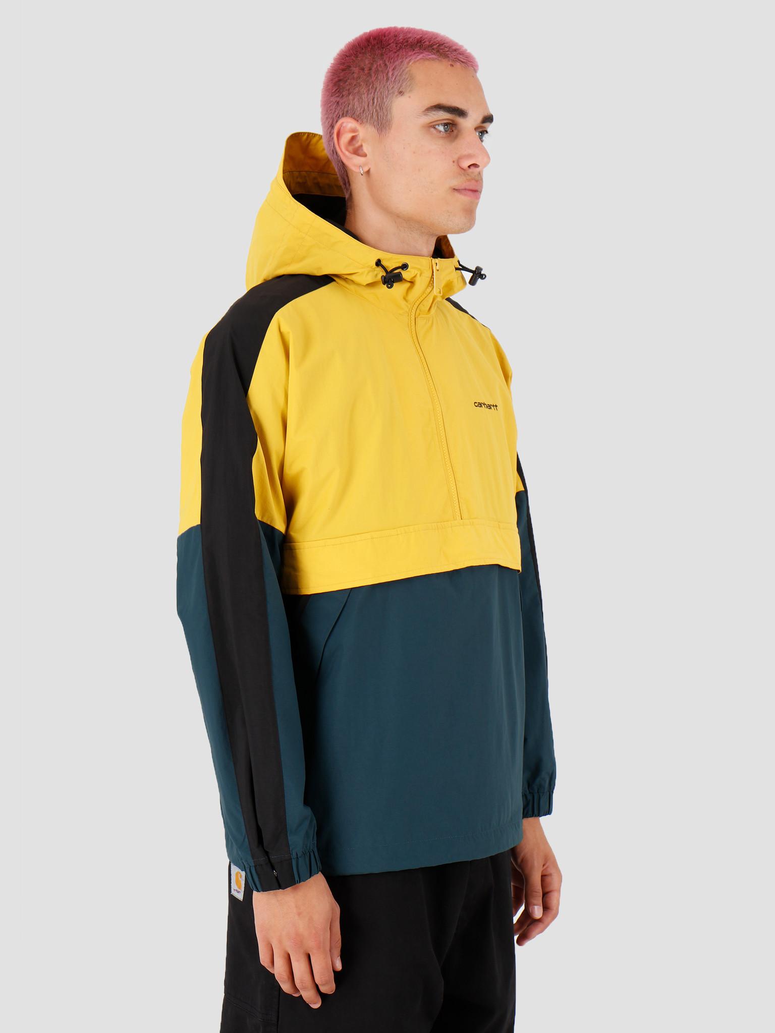 Carhartt WIP Carhartt WIP Barnes Pullover Colza Duck Blue Black I027192