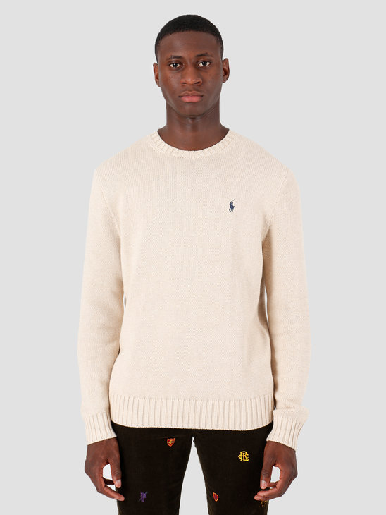 Polo Ralph Lauren Longsleeve Cotton Sweater Beige Khaki 710727573008