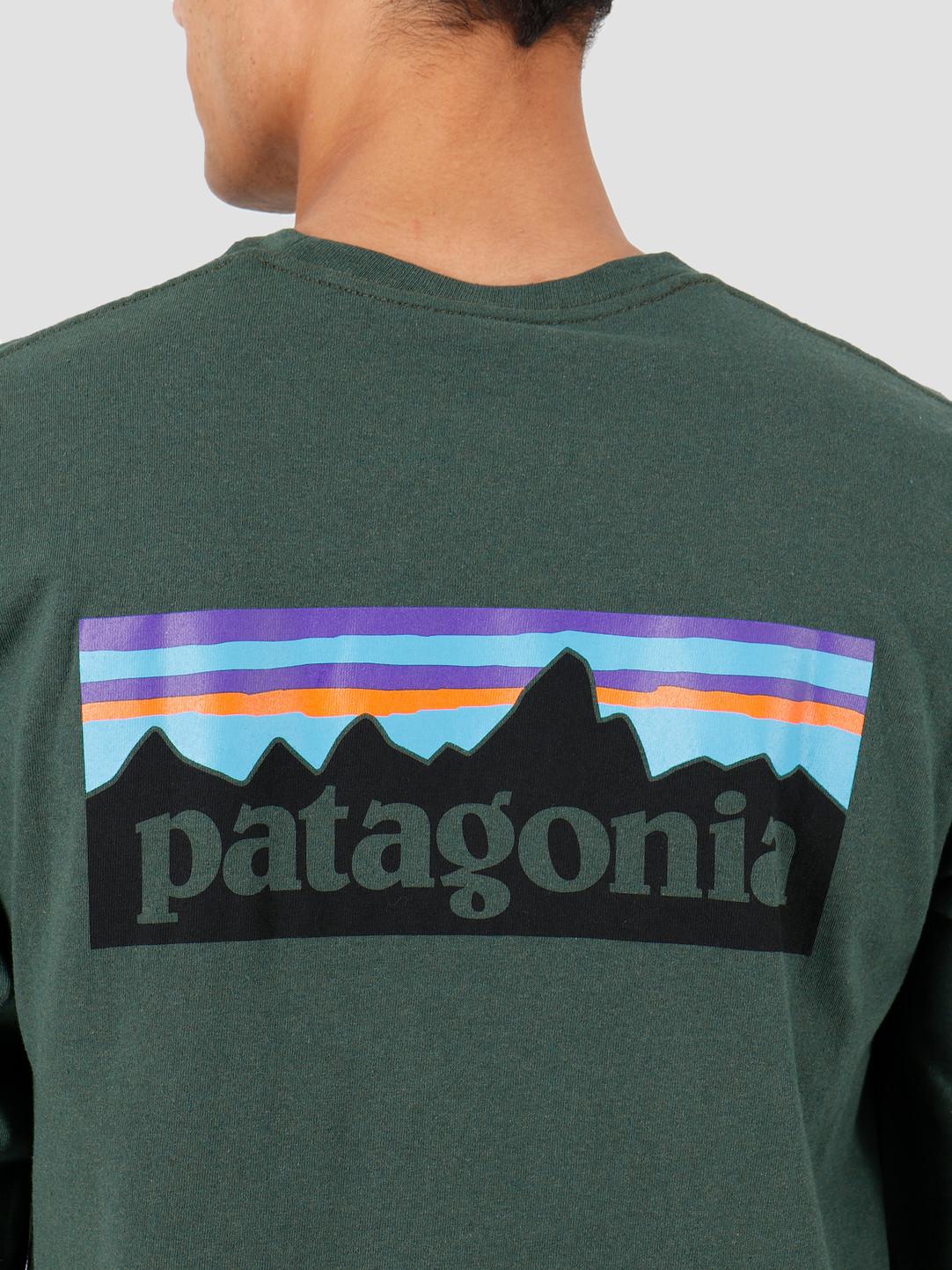 Patagonia Patagonia Longsleeve P-6 Logo Responsibili Tee Alder Green 39161