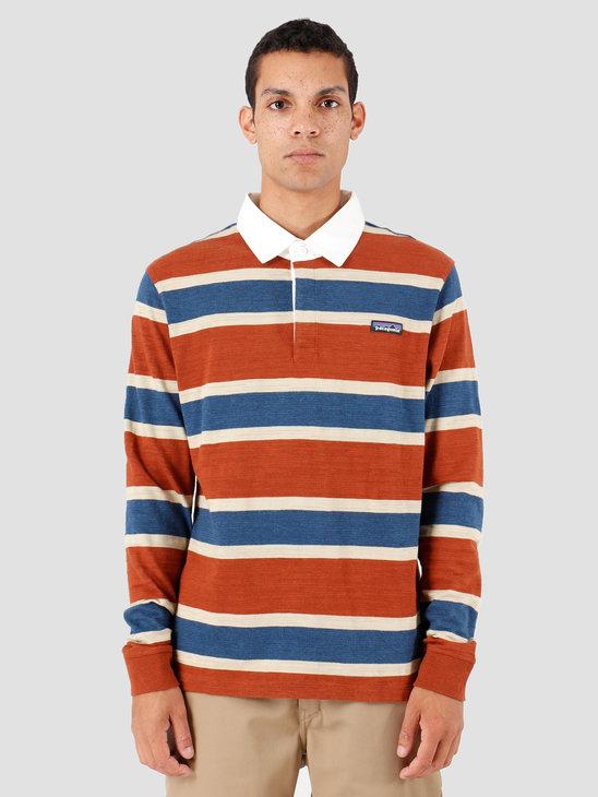 Patagonia Longsleeve Rugby Shirt Rugby Sisu Brown 53860