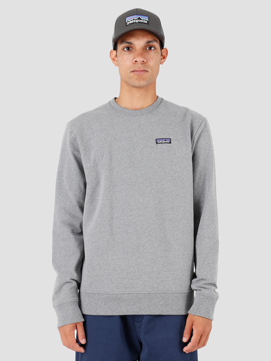 Patagonia P 6 Label Uprisal Crew Sweatshirt Gravel Heather 39543