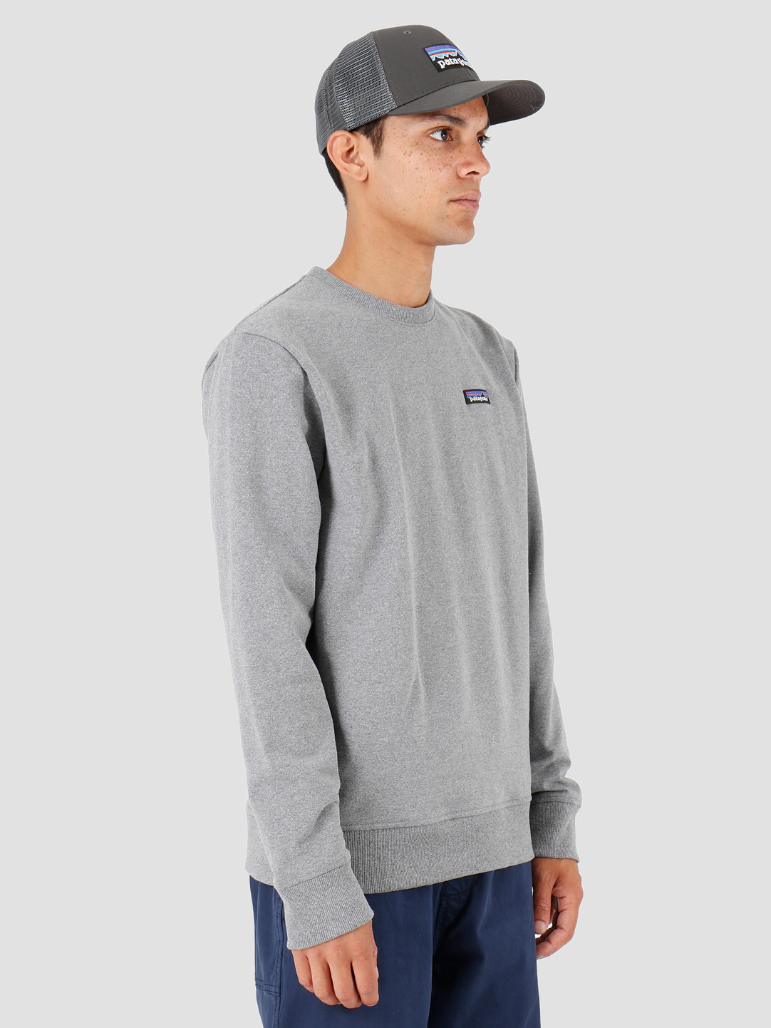 Patagonia P 6 Label Uprisal Crew Sweatshirt Gravel Heather 39543