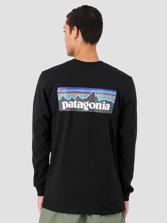Patagonia P 6 Logo Responsibili Longsleeve Black 39161