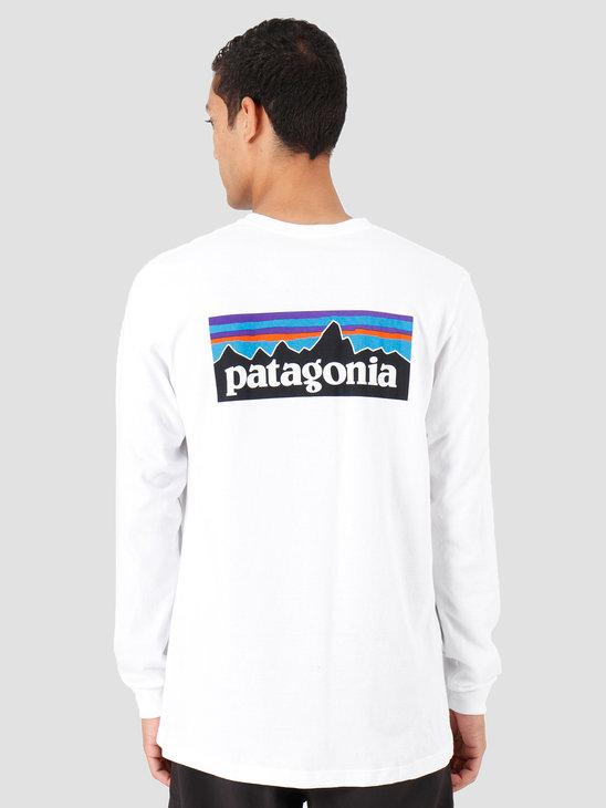 Patagonia P 6 Logo Responsibili Longsleeve White 39161