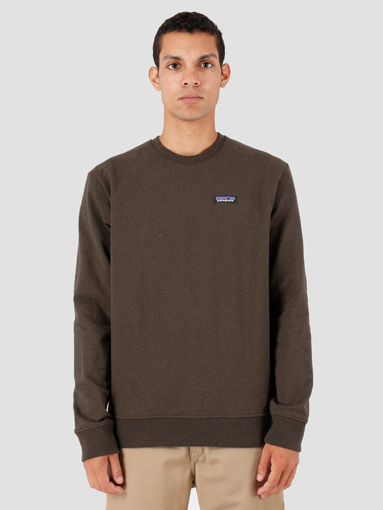 Patagonia P-6 Label Uprisal Crew Sweatshirt Logwood Brown 39543