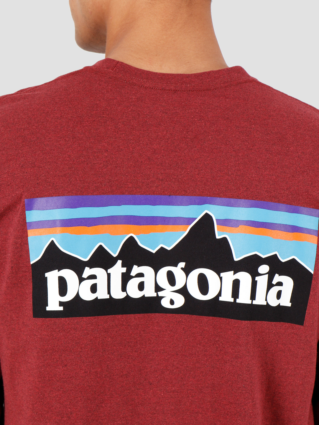 Patagonia Patagonia Longsleeve P-6 Logo Responsibili Tee Oxide Red 39161