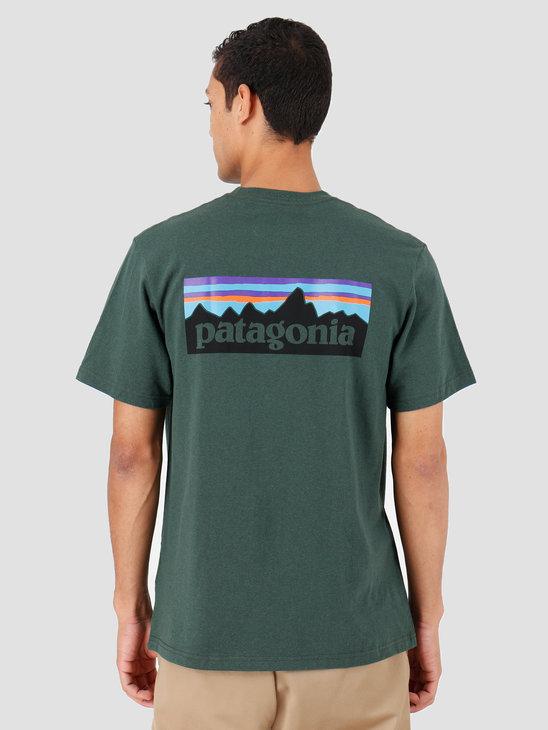 Patagonia P-6 Logo Pocket Responsibili T-Shirt Alder Green 39178