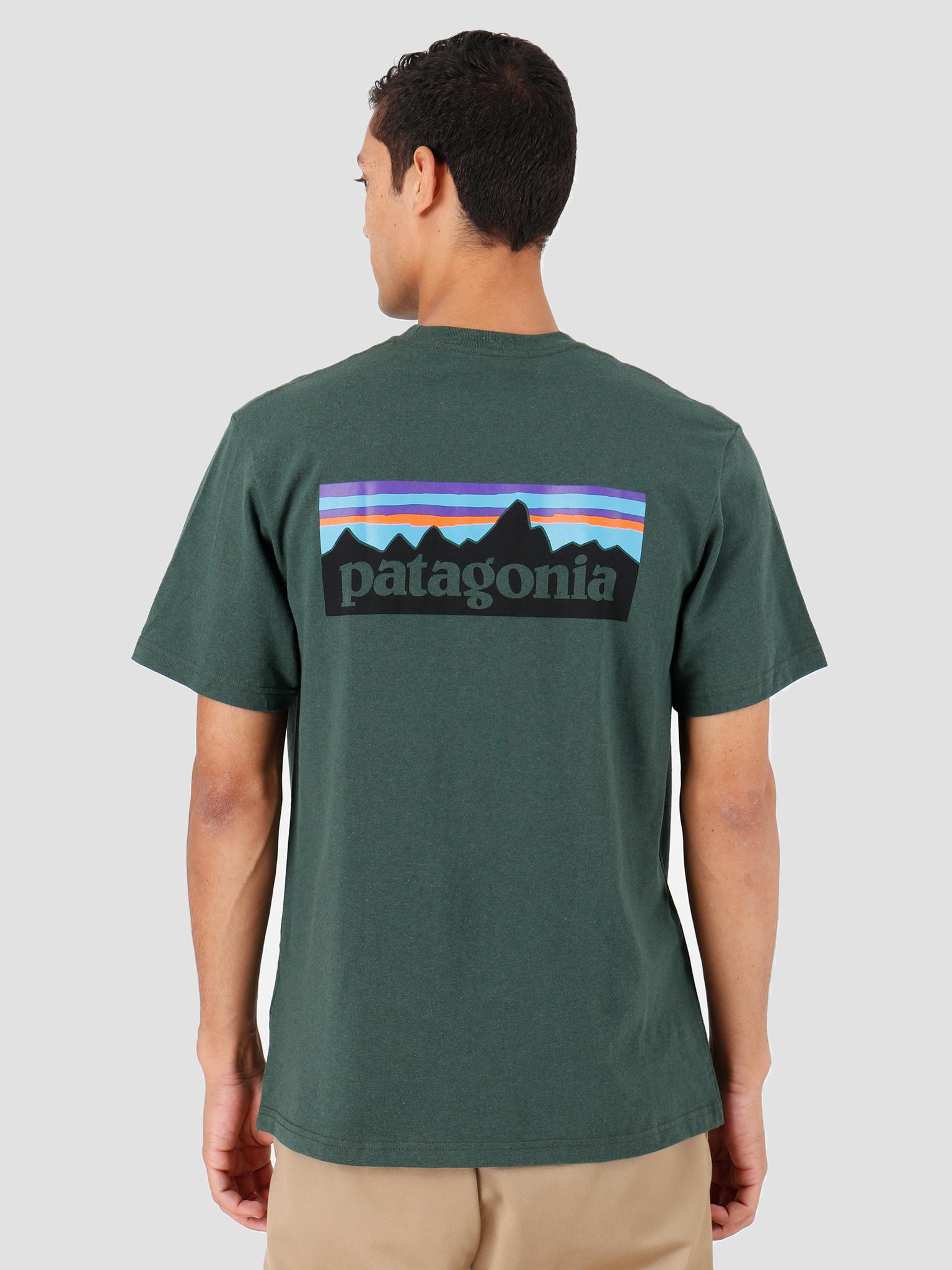 Patagonia Patagonia P-6 Logo Pocket Responsibili T-Shirt Alder Green 39178