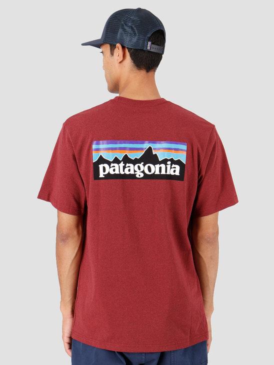 Patagonia P-6 Logo Pocket Responsibili T-Shirt Oxide Red 39178