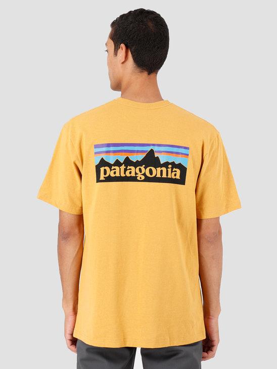 Patagonia P-6 Logo Responsibili-T-Shirt Glyph Gold 39174